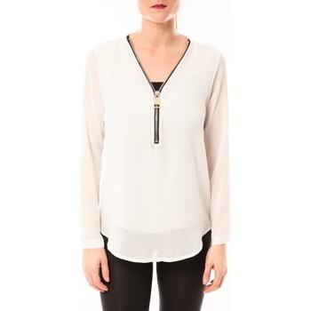 Vêtements Femme Tops / Blouses Vera & Lucy Chemisier Simple Blanc Blanc