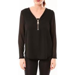 Vêtements Femme Tops / Blouses Vera & Lucy Chemisier Simple Noir Noir