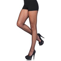 Sous-vêtements Femme Collants & bas Leg Avenue Collant starlette filet à pois Noir
