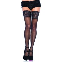 Sous-vêtements Femme Collants & bas Leg Avenue Bas autofixants larges jarretieres Noir