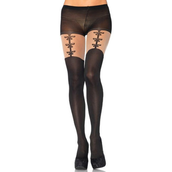 Sous-vêtements Femme Collants & bas Leg Avenue Collant faux porte jarretelles Noir