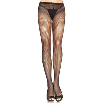 Sous-vêtements Femme Collants & bas Leg Avenue Collant celebrité strass Noir