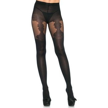 Sous-vêtements Femme Collants & bas Leg Avenue Collant faux porte jarretelle Noir