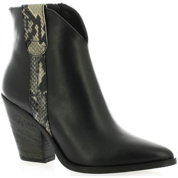 Chaussures Femme Bottines Giancarlo Boots cuir Noir