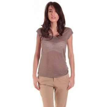Vêtements Femme T-shirts manches courtes Sud Express TEE-SHIRT TARIKA BRONZE Or