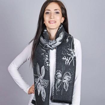 Accessoires textile Femme Echarpes / Etoles / Foulards Qualicoq Echarpe Maka - Couleur - Noir - Fabriqué en France Noir