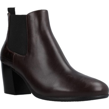 Chaussures Femme Bottines Geox D NEW LUCINDA Marron