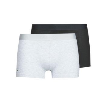 Sous-vêtements Homme Boxers Lacoste 5H3378-SNP Noir / Gris chine
