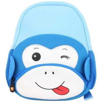Sacs Garçon Sacs à dos Maskot Petit sac à dos enfant  Trafikot le Singe Bleu Multicolor