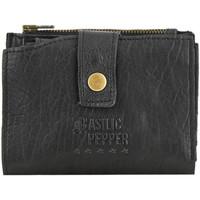 Sacs Femme Porte-monnaie Basilic Pepper Porte-monnaie porte-cartes cuir COW 16C-00BCOW94 BLACK
