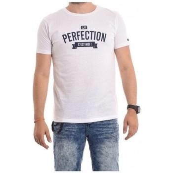 Vêtements Homme T-shirts manches courtes Ritchie T-shirt coton organique NABRIN Blanc