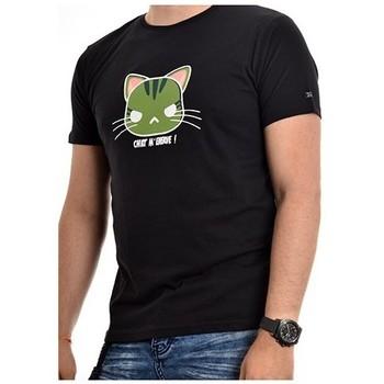 Vêtements Homme T-shirts manches courtes Ritchie T-shirt coton organique NAMANGA Noir