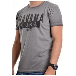 Vêtements Homme T-shirts manches courtes Ritchie T-shirt col rond NAPERO Gris foncé