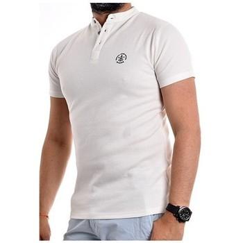 Vêtements Homme Polos manches courtes Ritchie T-shirt col tunisien NARCOS Ecru