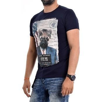 Vêtements Homme T-shirts manches courtes Ritchie T-shirt col rond coton NODJO Bleu marine