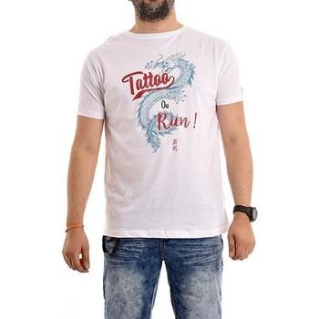Vêtements Homme T-shirts manches courtes Ritchie T-shirt coton organique NADES Blanc