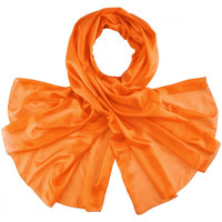 Accessoires textile Femme Echarpes / Etoles / Foulards Allée Du Foulard Etole soie unie - Couleur - Orange Orange