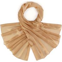 Accessoires textile Femme Echarpes / Etoles / Foulards Allée Du Foulard Etole soie unie - Couleur - Noisette Noisette