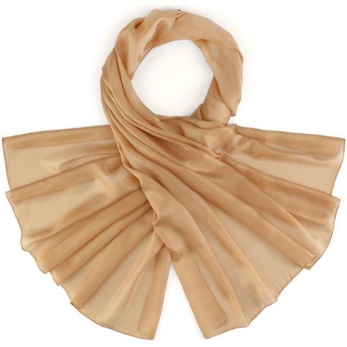 Accessoires textile Femme Echarpes / Etoles / Foulards Allée Du Foulard Etole soie unie Noisette