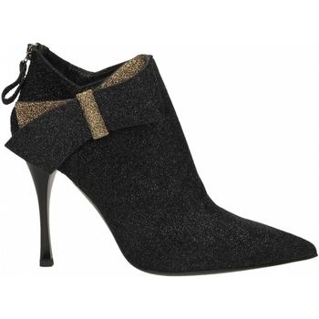 Chaussures Femme Bottines Ororo TRONCHETTO FIOCCO BICOLORE nero
