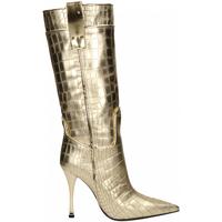 Chaussures Femme Bottes ville Ororo STIVALE PELLE LAMINATO platino