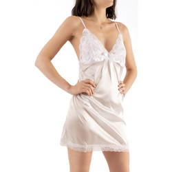 Vêtements Femme Pyjamas / Chemises de nuit Bec Collection Nuisette Jane dos V Blanc