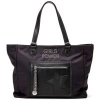 Sacs Femme Cabas / Sacs shopping Girls Power Sac cabas  Star toile nylon Noir Multicolor