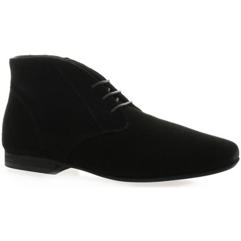Chaussures Femme Boots Reqin's Boots cuir velours Noir