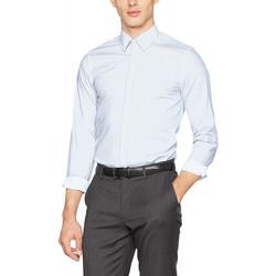 Vêtements Homme Chemises manches longues Guess Chemise Homme Manches Longues Venice Bleu