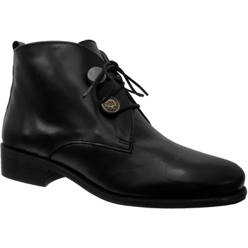 Chaussures Femme Bottines Folies Yalla Noir cuir