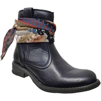 Chaussures Femme Bottines Goodstep 9510 Marine cuir