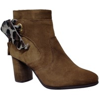 Chaussures Femme Bottines Goodstep 9551 Marron velours