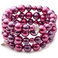 Montres & Bijoux Femme Bracelets Blue Pearls OCP 0132 FUSHIA Multicolore