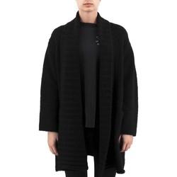 Vêtements Femme Gilets / Cardigans Anonyme Maillot Demeter en laine epaisse noir  ANYP259 Noir