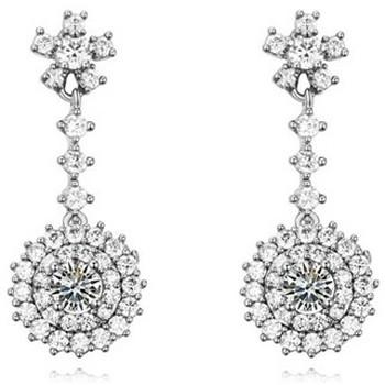 Montres & Bijoux Femme Boucles d'oreilles Blue Pearls PDC C321 Blanc