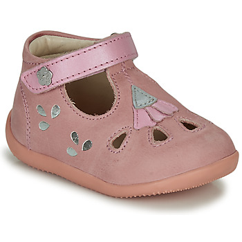 Chaussures Fille Sandales et Nu-pieds Kickers BLUPINKY Rose / Argenté