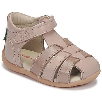 Chaussures Fille Sandales et Nu-pieds Kickers BIGFLO-2 Rose metal