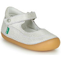 Chaussures Fille Ballerines / babies Kickers SORBABY Blanc / Argent