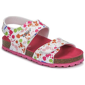Chaussures Fille Sandales et Nu-pieds Kickers SUMMERKRO Blanc / Multicolore