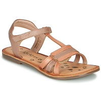Chaussures Fille Sandales et Nu-pieds Kickers DIAMANTO Orange / Rose