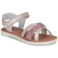 Chaussures Fille Sandales et Nu-pieds Kickers SHARKKY Gris / Rose