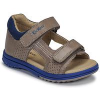 Chaussures Garçon Sandales et Nu-pieds Kickers PLAZABI Gris / Bleu