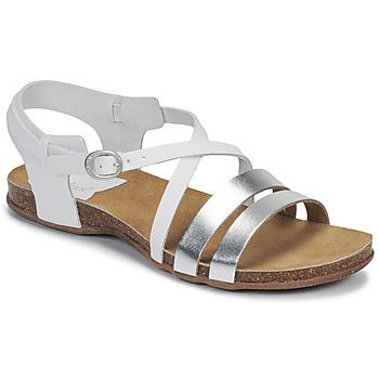Chaussures Femme Sandales et Nu-pieds Kickers ANATOMIUM Blanc / Argent