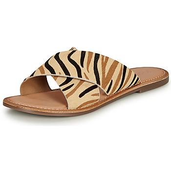 Chaussures Femme Mules Kickers DIAZ-2 Beige / Noir / Marron