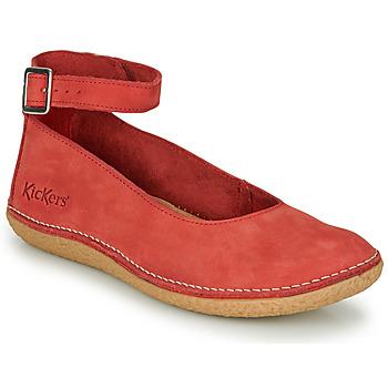 Chaussures Femme Ballerines / babies Kickers HONNORA Rouge