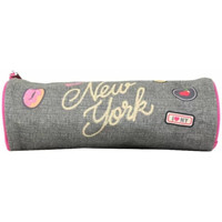 Sacs Fille Trousses Pol Fox Trousse  New York Gris / Rose 1 compartiment Multicolor