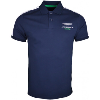 Vêtements Homme Polos manches courtes Hackett Polo  Aston Martin bleu marine slim fir pour homme Bleu
