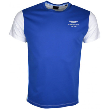 Vêtements Homme T-shirts manches courtes Hackett T-shirt col rond  Aston Martin bleu et blanc pour homme Bleu