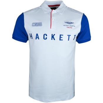 Vêtements Homme Polos manches courtes Hackett Polo  Aston Martin blanc manches bleu pour homme Blanc