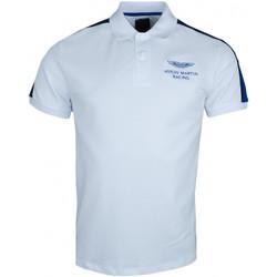 Vêtements Homme Polos manches courtes Hackett Polo  Aston Martin blanc slim fit pour homme Blanc
